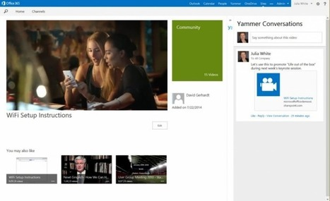 Microsoft Launches Office 365 Video to Help Companies Create and Share Videos More Easily | Computers and You Class | Scoop.it