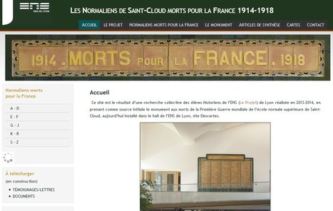 Normaliens de Saint-Cloud morts pour la France | Nos Racines | Scoop.it