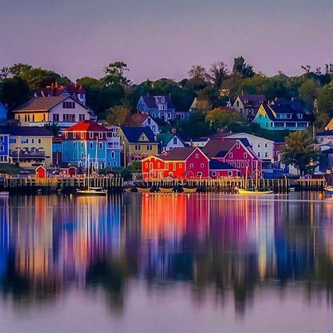 "Dave & Deb travel photography on Instagram: ""Sunset over the colourful fishing village of Lunenburg, Nova Scotia.  We return to Nova Scotia for #2 on our list of the best in 2015.…"" 