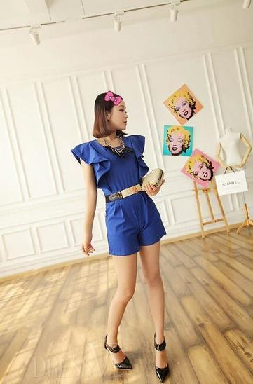 Carefree Korean Style Falbala Slim Jumpsuits | Dressve fashion | Scoop.it