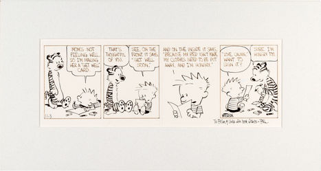 Original 1986 'Calvin and Hobbes' Art Goes Up For Auction | Comic Books | Scoop.it