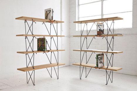 """Le principe de serrage du valet d'établi est retranscrit dans l'étagère """"holdfast"""" de Sam Weller (via designboom)   inoow design lab   Scoop.it"""