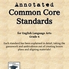 Annotated Common Core Standards for ELA Grade 6 - Secondary Solutions | Secondary ELA | Scoop.it