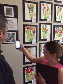 Art interns at Estrella develop QR codes for the school's art show - Ahwatukee Foothills News | QR Code Art | Scoop.it