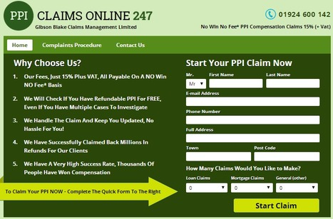 PPI Claims (15% Payment on Success) - Quick Completion | PPI Claims  (15% Payment on Success) - Quick Completion | Scoop.it
