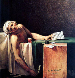 The Death of Marat - Jacques-Louis David   Death of Marat   Scoop.it