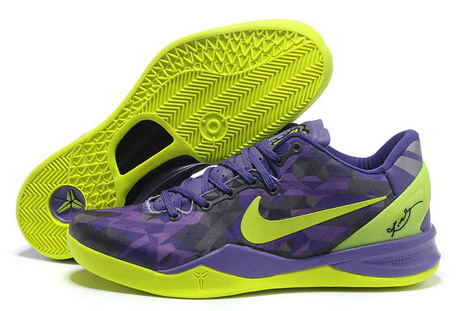 Men Size Nike Air Kobe 8 System Shoes In Volt/Purple | new style | Scoop.it