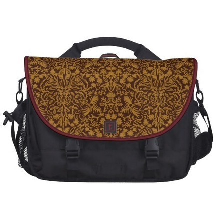 Maroon Gold Medieval Leaves Commuter Bag from Zazzle.com | Messenger Bags, Purses & Totes | Scoop.it