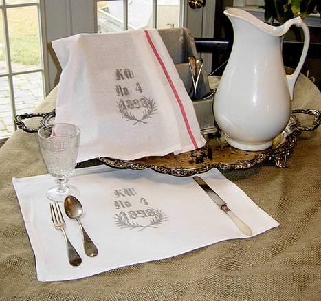 Create Your Own Graphic Vintage Tea Towels | One Good Thing by Jillee | Crafts | Scoop.it