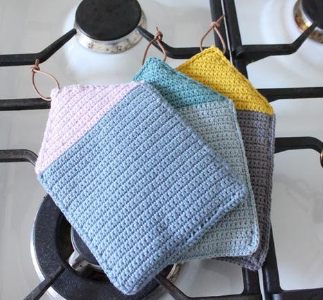 TUSINDFRYD: RækkeHuse- DIY På GrydeLapper | Crochet | Scoop.it