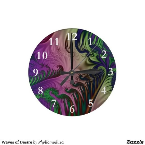 Waves of Desire Wallclock from Zazzle.com | Fractal Gifts | Scoop.it