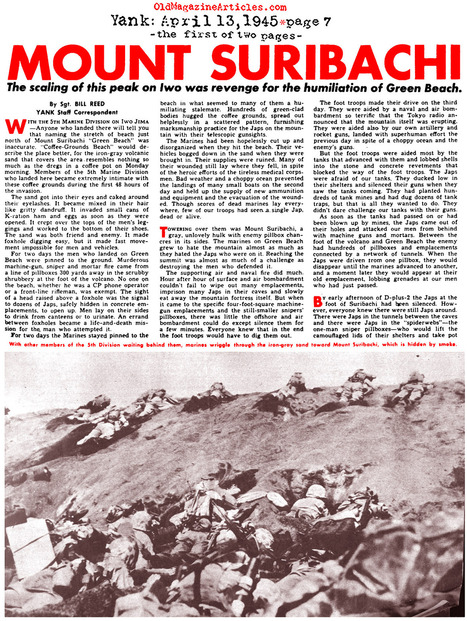 Primary document #1 (Article) | The Battle of Iwo Jima | Scoop.it