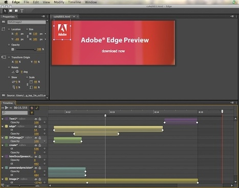 Adobe lance Edge, un outil d'animation HTML5 - InterfacesRiches.fr | html5 websites curation | Scoop.it
