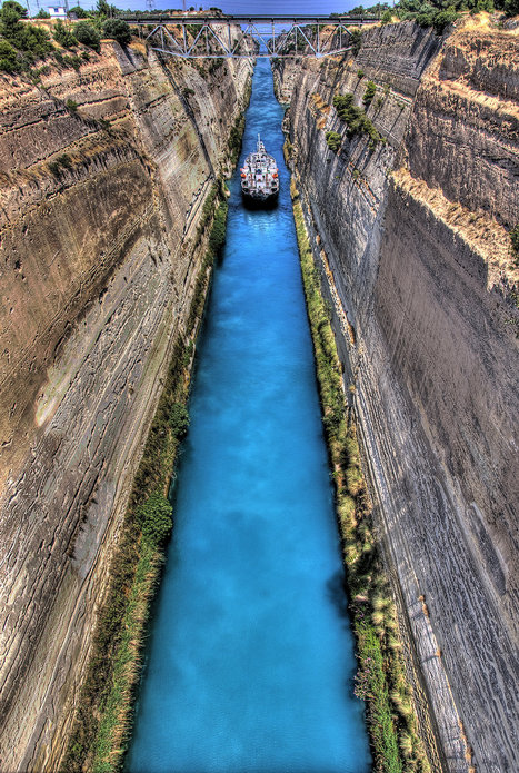 Corinth Canal | Top travel destinations worldwide | Scoop.it