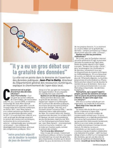 Nantes a bien songé à vendre ses données publiques et fait un premier bilan nuancé | Collectivités territoriales 2.0 | Scoop.it