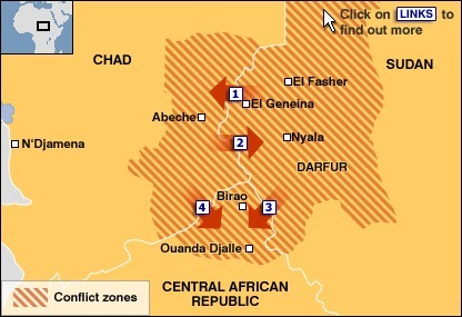 BBC NEWS | Africa | Darfur conflict zones map | Darfur Devastation | Scoop.it