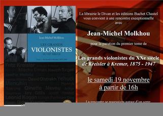 Jean-Michel Molkhou au Divan pour la parution de son livre sur Les grands violonistes du XXème siècle | Muzibao | Scoop.it
