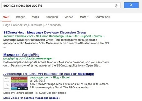 Google Domain Clustering Update? | Online Marketing Resources | Scoop.it