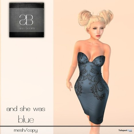 And She Was Blue Dress 1000 Members Group Gift by siss boom | Teleport Hub - Second Life Freebies | Second Life Freebies | Scoop.it