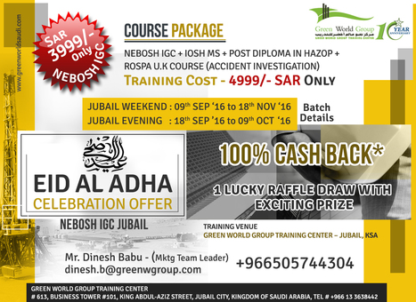 Eid Al Adha Offer | Nebosh courses | Scoop.it