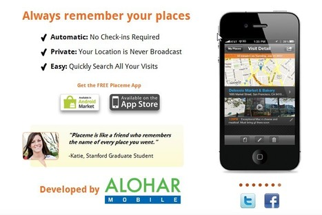 Placeme: Your Places Remembered | Apps and Widgets for any use, mostly for education and FREE | Scoop.it