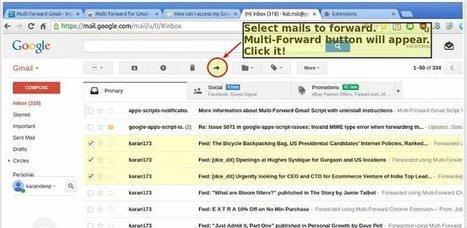 Cómo reenviar varios emails en Gmail al mismo tiempo | Recull diari | Scoop.it