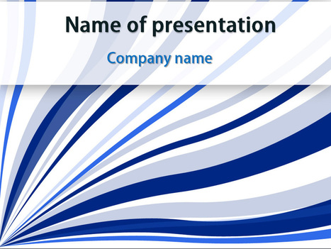 Download free Blue Strings powerpoint template for presentation | Powerpoint Templates and Themes | Scoop.it