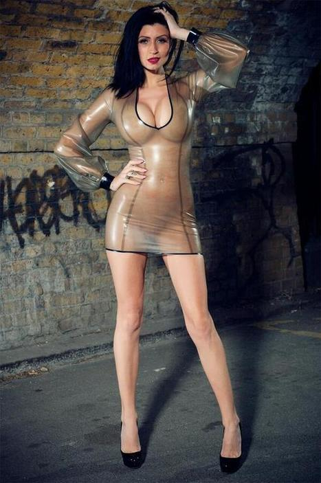 Twitter / BreathlessLatex: Lilly wears new dress in semi ... | Transparent Latex | Scoop.it