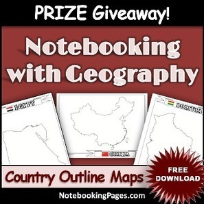 Free Country Maps, Coupon, & Prize Giveaway! - Notebooking Pages | NotebookingPages.com | Crum Classroom Resources | Scoop.it