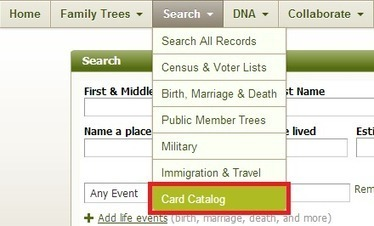 What is the Card Catalog and how do I use it?   Ancestry   Scoop.it