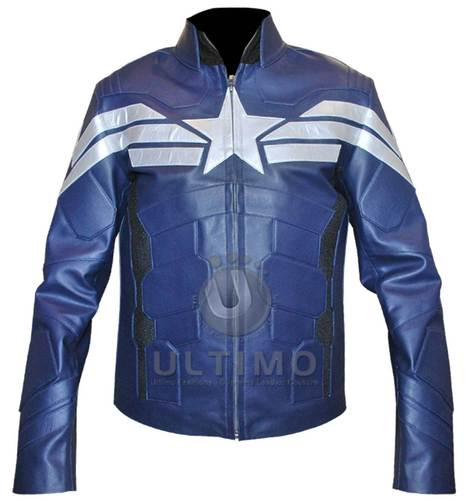 Captain America 2 Blue Costume/Jacket | Celebrities Leather Jackets | Scoop.it