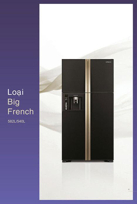 Tủ lạnh Hitachi R-W660PGV3 Side By Side 4 cửa 540L Inverter | TÂN PHONG | Scoop.it