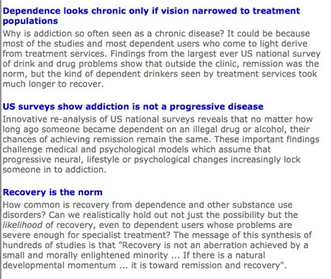 Three studies show 'addiction' is not a disease and recovery is the norm | Drugs, Society, Human Rights & Justice | Scoop.it