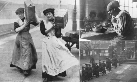 Incredible photos from WW1 reveal the backbreaking and often dangerous work taken on by British women during the Great War | European History 1914-1955 | Scoop.it