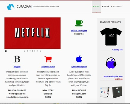 Curagami Store & Blog Progress - Relaunching Next Week | Ecom Revolution | Scoop.it