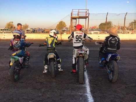 Some fast kids right here... Lining up for opening ceremonies. | California Flat Track Association (CFTA) | Scoop.it