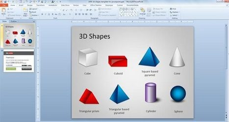 Free 3D Shapes Template for PowerPoint - Free PowerPoint Templates - SlideHunter.com   Pre-sales   Scoop.it