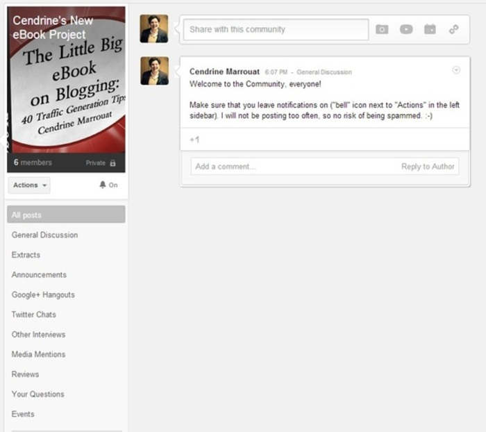 An invitation to join my new Google+ Community | Business in a Social Media World | Scoop.it