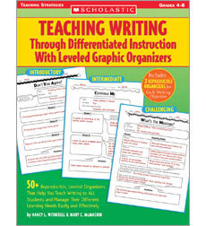 Teaching Writing Through Differentiated Instruction With Leveled Graphic Organizers | UDL & ICT in education | Scoop.it