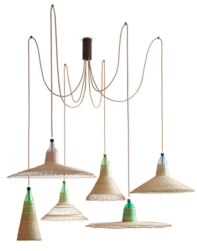 Plastic bottles woven with wicker form Chimbarongo light for PET Lamps | What's new in Industrial Design? | Scoop.it