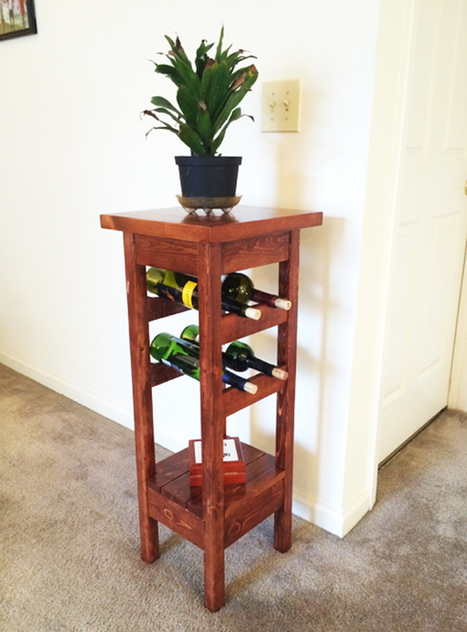 DIY Plant Stand with Wine Rack | MyOutdoorPlans | Free Woodworking Plans and Projects, DIY Shed, Wooden Playhouse, Pergola, Bbq | Garden Plans | Scoop.it