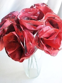Newspaper Rose Bouquets | Craftspo | Scoop.it