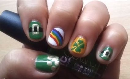 6 St. Patrick's Day Nail Art Ideas That Will Get You in the Irish Spirit ... | Nail art kit and nail art ideas | Scoop.it