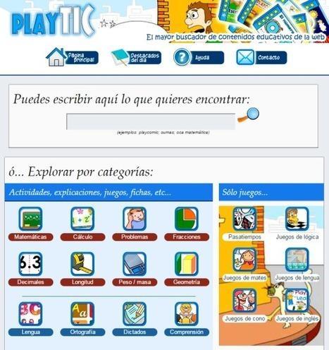 AYUDA PARA MAESTROS: PlayTIC - El mayor buscador de contenidos educativos de la web | Utilidades TIC para el aula | Scoop.it