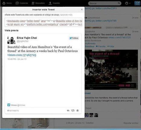 Inserta vídeos de Twitter Vine en tu web o blog | Uso inteligente de las herramientas TIC | Scoop.it