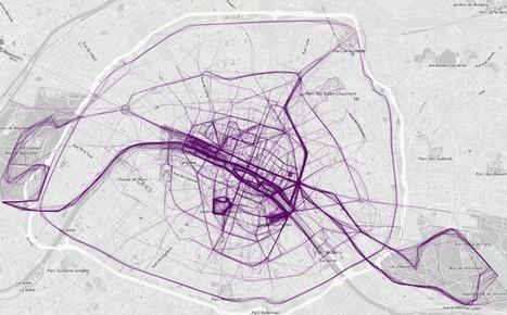 En images : où courent les habitants de Paris, New York ou Londres   Cartographie culturelle   Scoop.it