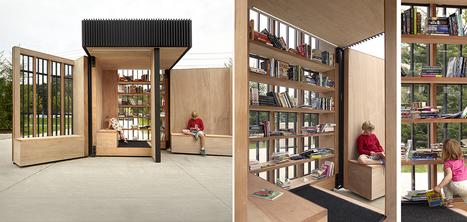 Une bibliothèque mobile et compacte qui s'ouvre comme un livre | Veille professionnelle des Bibliothèques-Médiathèques de Metz | Scoop.it