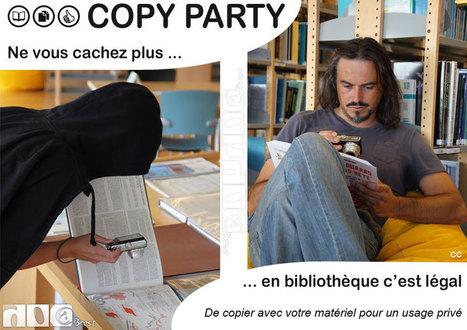 Ne vous cachez plus... En bibliothèque copier c'est légal! (copy party le 12 octobre 2013 dans les bibliothèques de Brest) | Doc@Brest - actualités du réseau | Scoop.it
