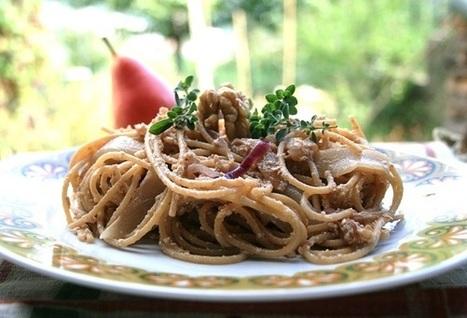ricette al verde: Spaghetti integrali con pere e noci | CIBO, BENESSERE E RELAX | Scoop.it