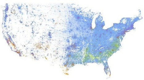 A Strangely Beautiful Map of Race in America | BHS AP Human Geography | Scoop.it